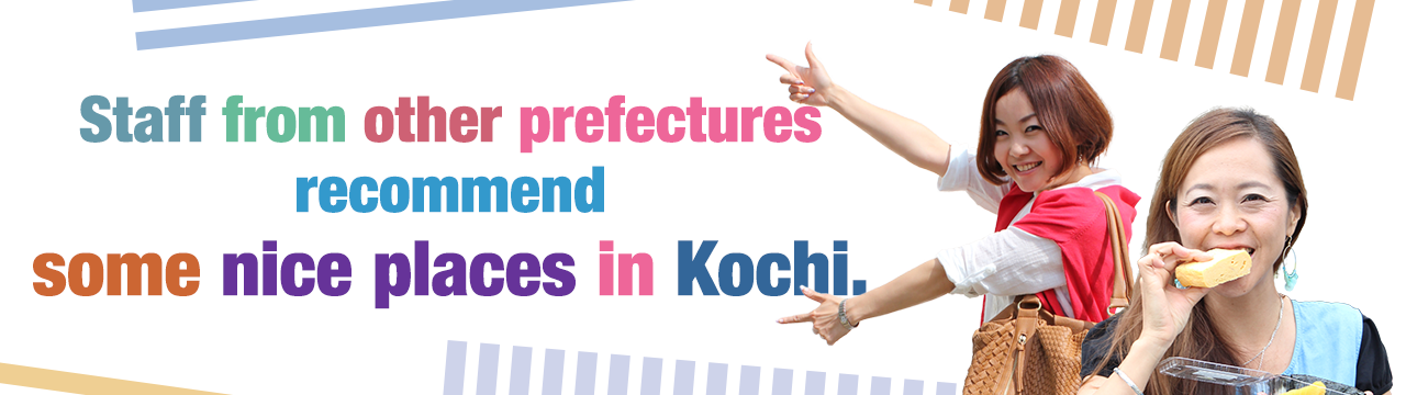 Staff from other prefectures recommend some nice places in Kochi.