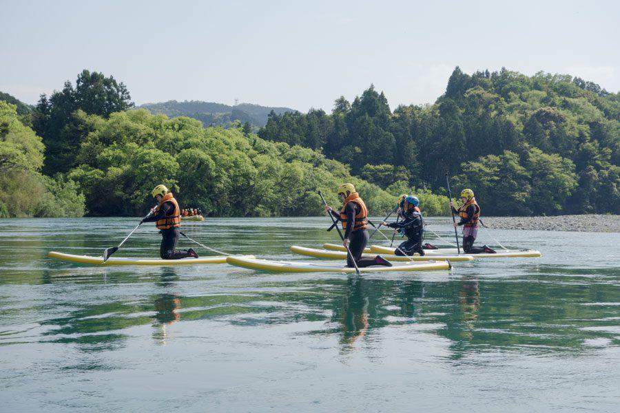 奇跡の清流仁淀川できれいな水と空気をいっぱいにうけて・・・