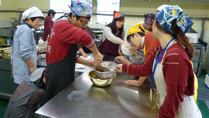 「あんこ」も手作りします♪小豆で作ったあんこは多くの和菓子で使われています。